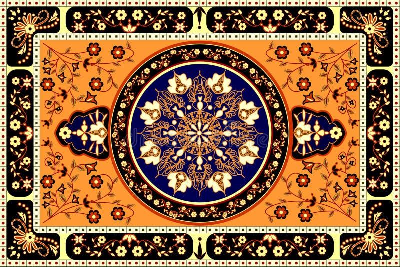 Alfombra anaranjada ilustración del vector