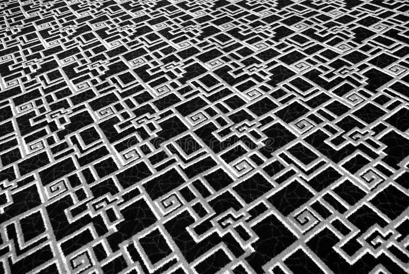 Alfombra blanco y negro imágenes de archivo libres de regalías