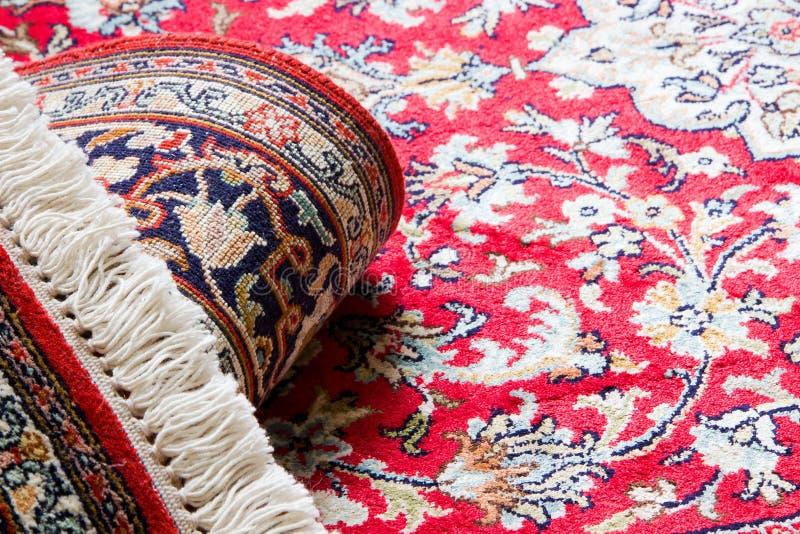 Alfombra de la seda de Cachemira fotos de archivo libres de regalías