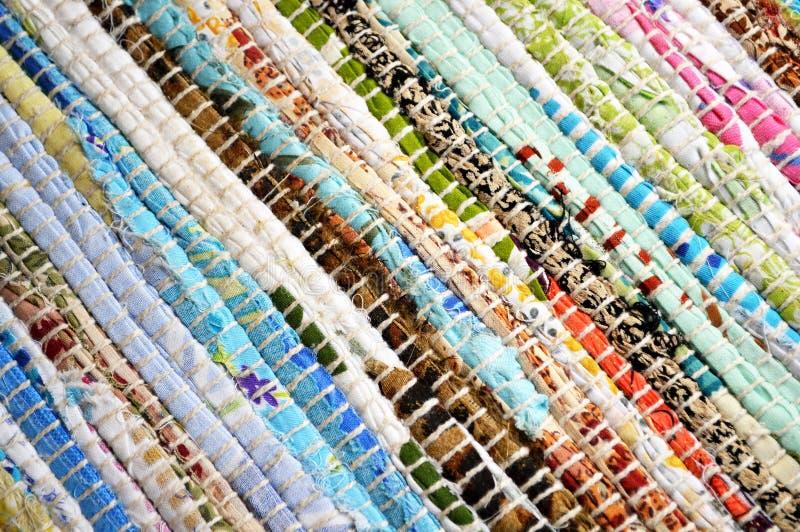 alfombra de las sobras de la materia textil fotos de archivo
