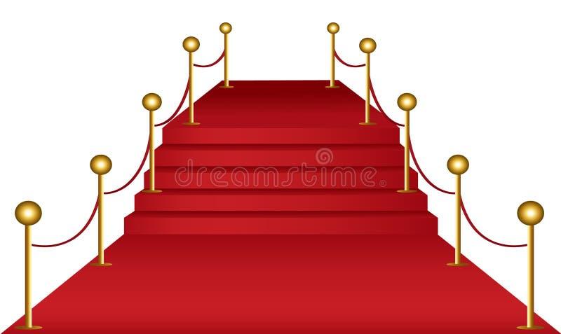 Alfombra roja stock de ilustración