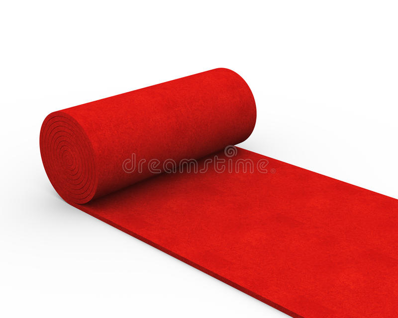 alfombra roja del balanceo 3d stock de ilustración