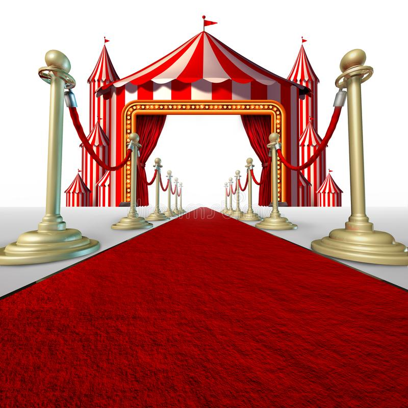Alfombra roja del circo libre illustration