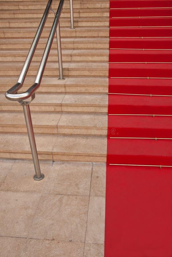Alfombra roja famosa en Cannes foto de archivo