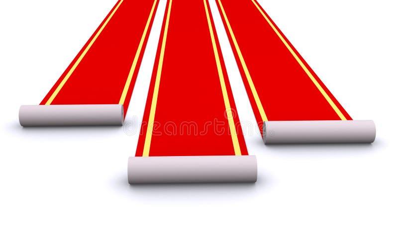 Alfombras rojas stock de ilustración