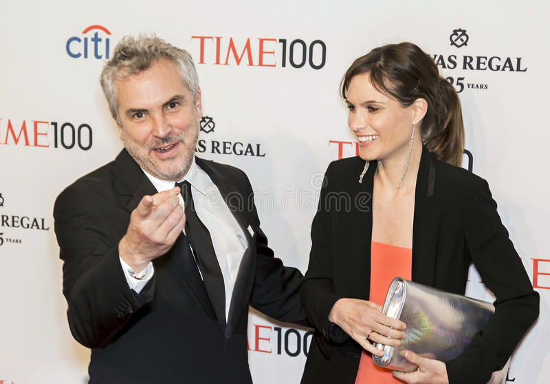 Alfonso Cuaron and Sheherazade Goldsmith. Mexican gilm director/producer/screenwriter/editor Alfonso Cuaron and English jeweler and environmentalist/author/ stock photo