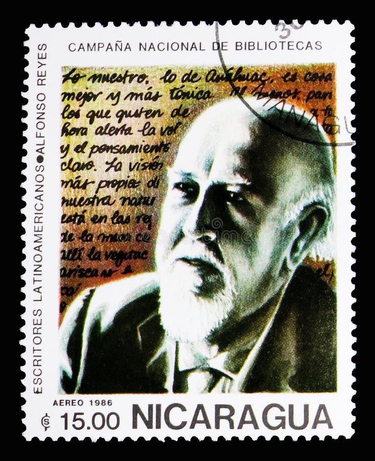 Alfonso Reyes Ochoa (1889-1959), serie dell'America latina degli scrittori, c immagine stock libera da diritti