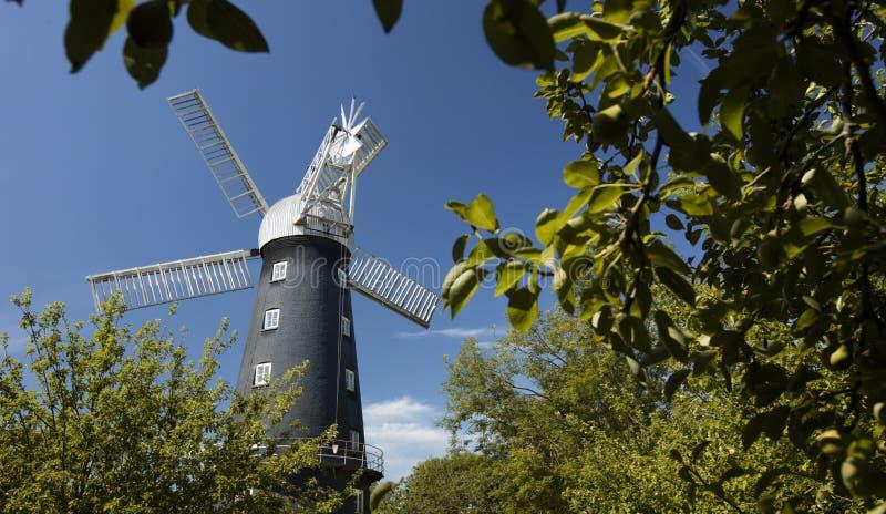 Alford Lincolnshire, Förenade kungariket, Juli 2017, sikt av Alford Windmill royaltyfri foto
