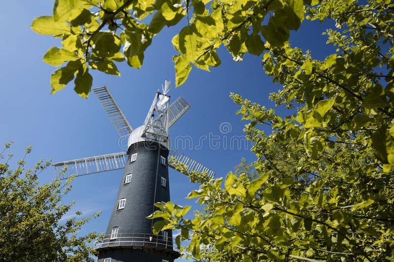 Alford, Lincolnshire, United Kingdom, July 2017, View of Alford Windmill. Alford, Lincolnshire, United Kingdom, July 2017, View of the Alford Windmill royalty free stock images