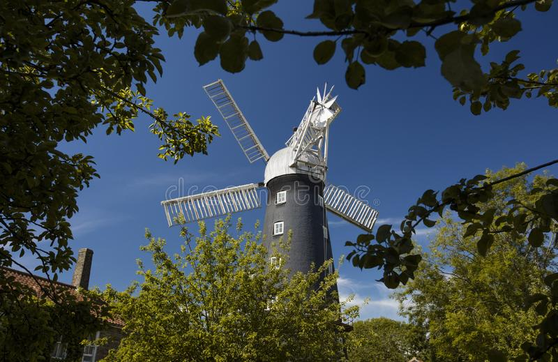 Alford, Lincolnshire, United Kingdom, July 2017, View of Alford Windmill. Alford, Lincolnshire, United Kingdom, July 2017, a View of Alford Windmill stock image