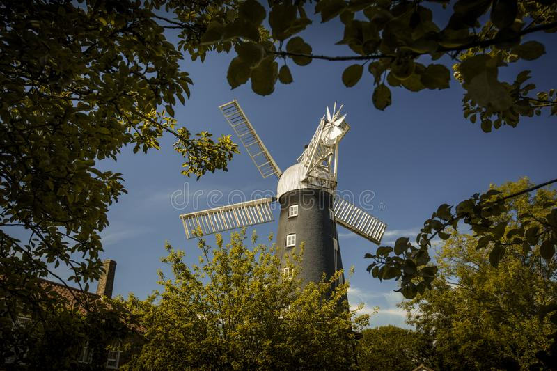 Alford, Lincolnshire, United Kingdom, July 2017, View of Alford Windmill. Alford, Lincolnshire, United Kingdom, July 2017, a View of Alford Windmill royalty free stock photography