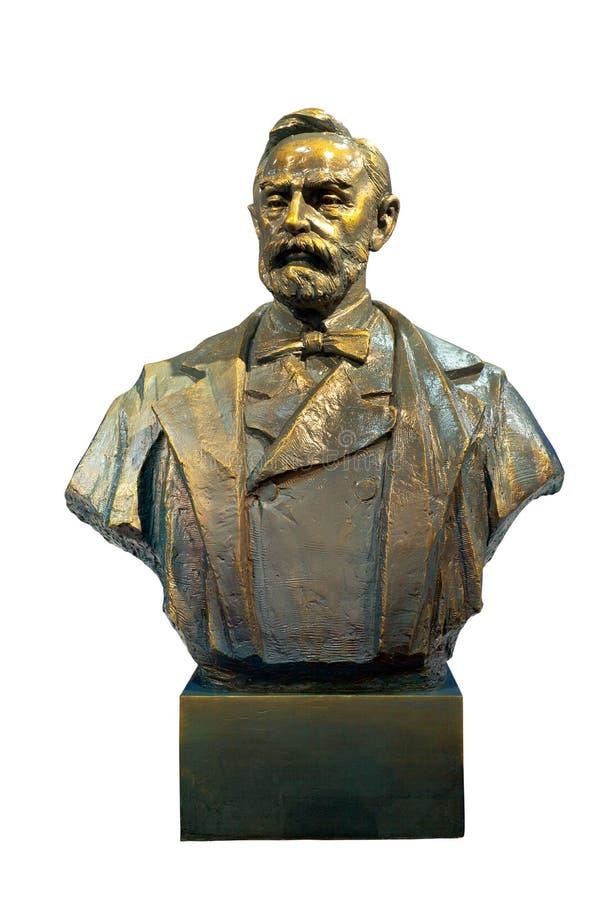 Alfred Bernhard Nobel brązowa statua fotografia royalty free