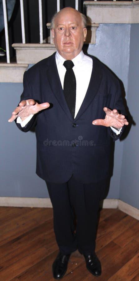 Alfred Hitchcock bij Mevrouw Tussaud's royalty-vrije stock fotografie