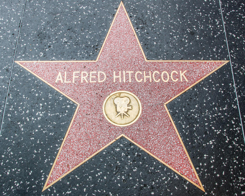 Alfred Hitchcock Star op de Hollywood-Gang van Bekendheid royalty-vrije stock afbeelding