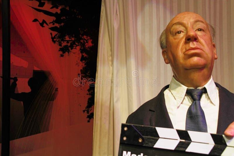 Alfred Hitchcock-waxwork cijfer stock afbeelding