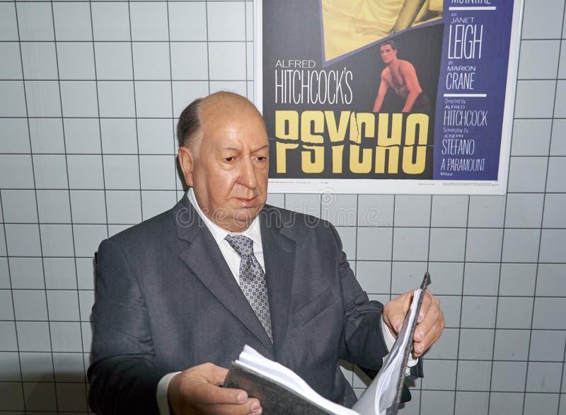 Alfred Hitchcock wosku postać zdjęcia royalty free