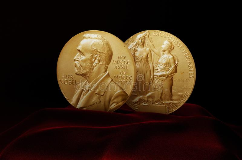 Alfred Nobel Prize imagenes de archivo