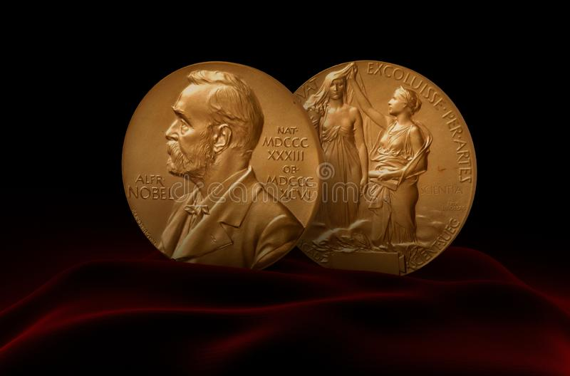 Alfred Nobel Prize royalty-vrije stock foto
