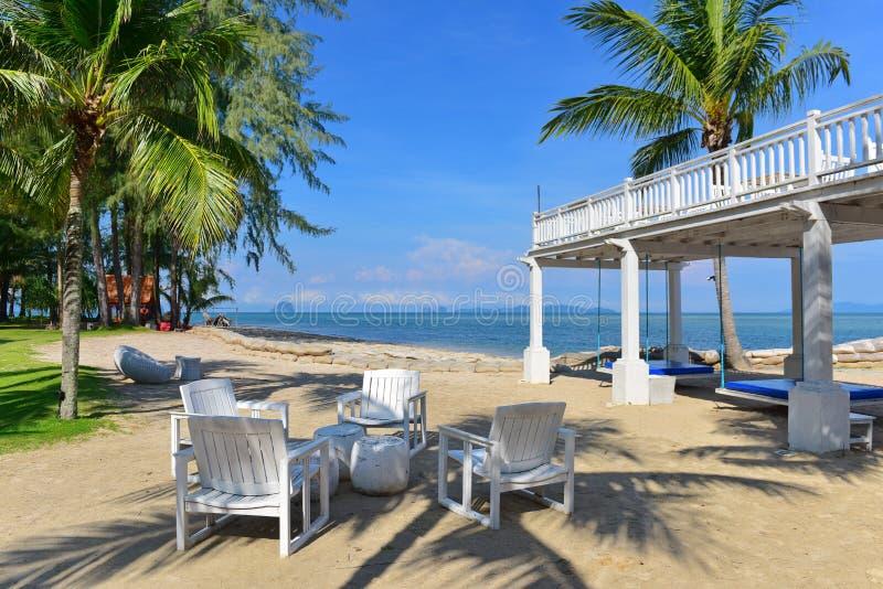 Alfresco łomota teren tropikalna miejscowość nadmorska zdjęcie royalty free