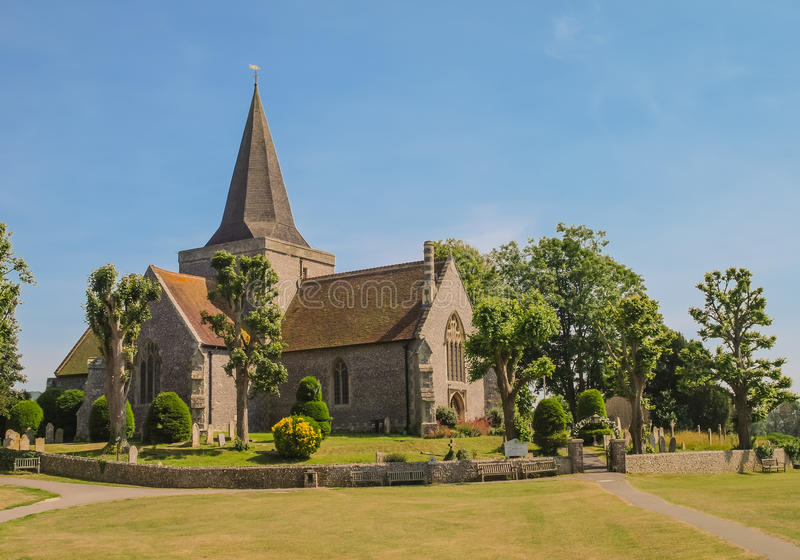 Alfriston Church, East Sussex, England stock image
