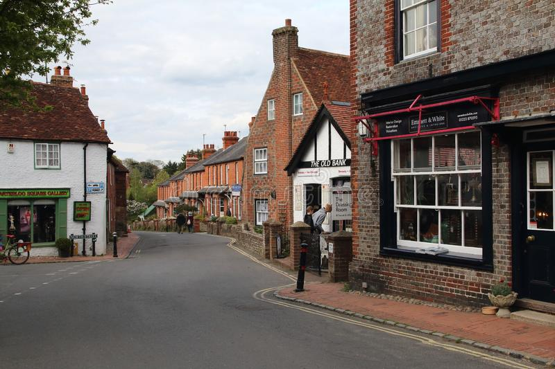Alfriston, East Sussex. Alfriston is a village and civil parish in the East Sussex district of Wealden, England. The village lies in the valley of the River stock image