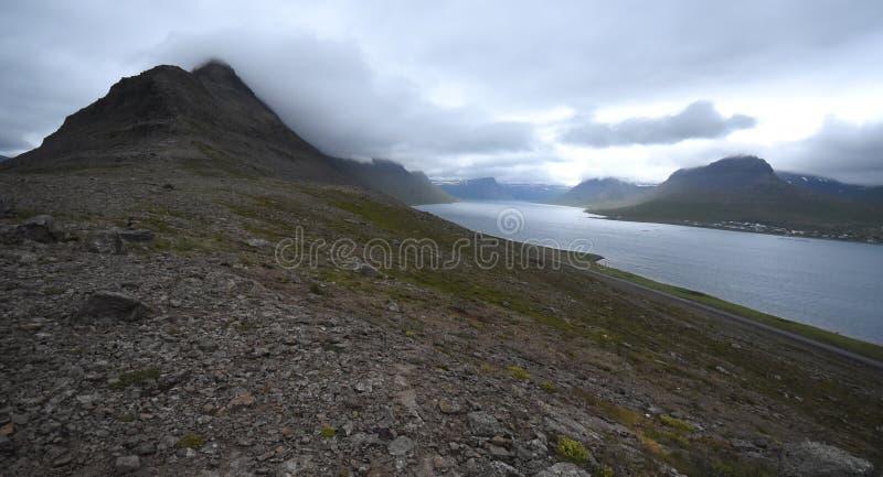 Alftafjordur cambiante foto de archivo libre de regalías