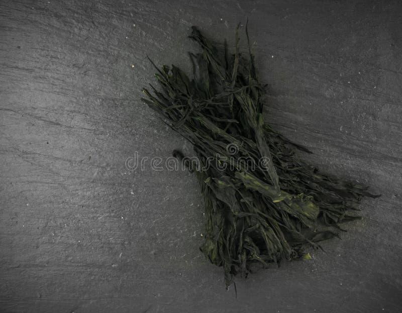 Alga marina seca de Wakame foto de archivo libre de regalías