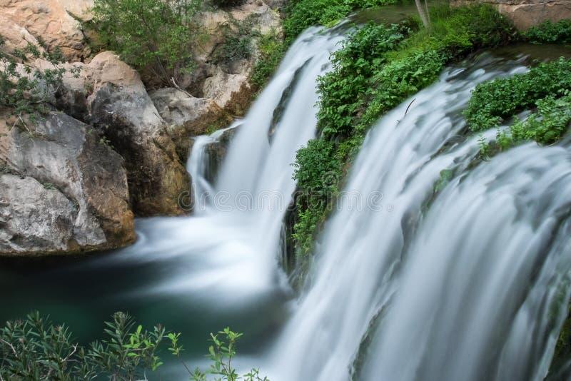 Algar Falls. Region Alicante. Spain royalty free stock image