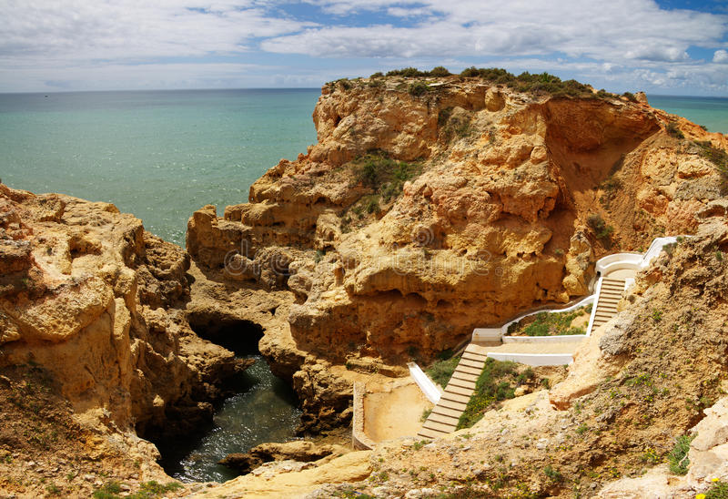Algar Seco basen przy Algarve fotografia royalty free
