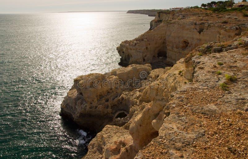 Algar Seco w Algarve w Portugalia obrazy royalty free
