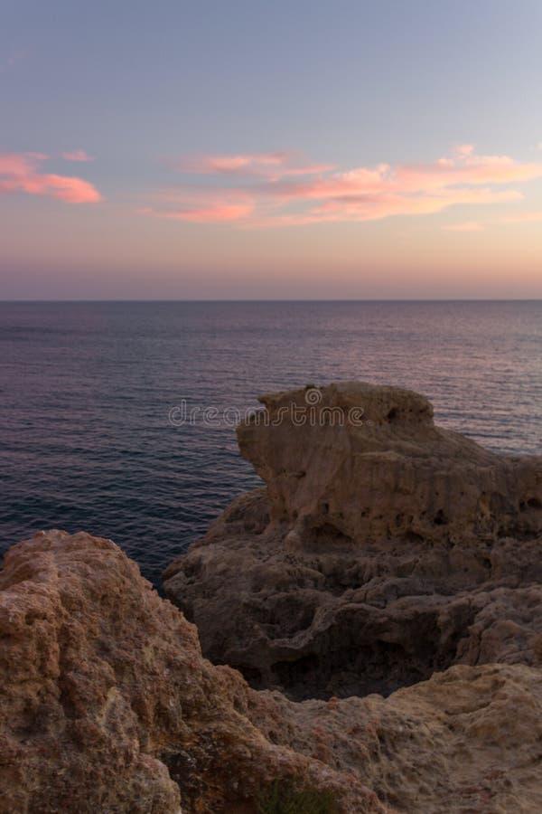 Algar Seco w Carvoeiro w Algarve Portugalia fotografia royalty free