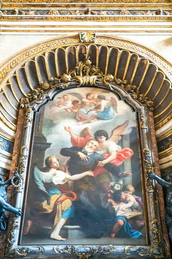 algarve almuncil教会洛伦佐・葡萄牙s S的玛丽亚 Satiro 免版税库存照片