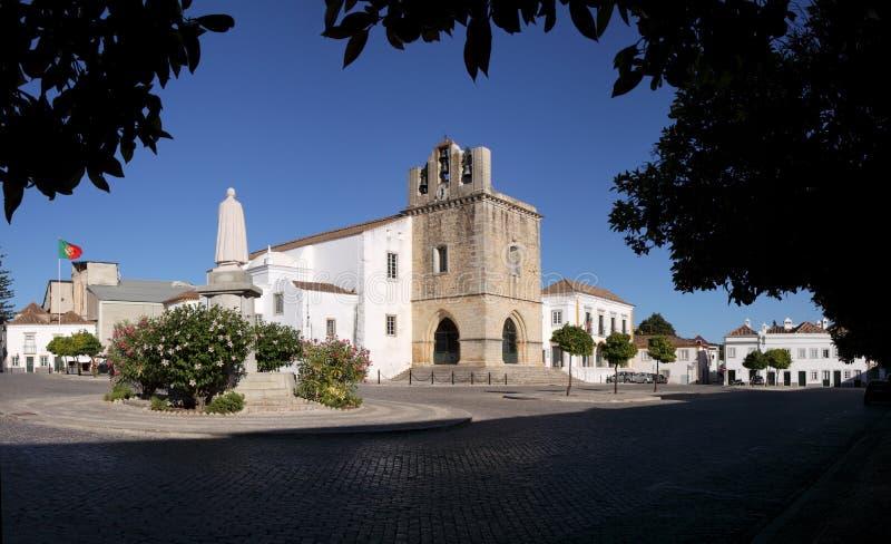 algarve domkyrkafaro portugal se royaltyfria foton