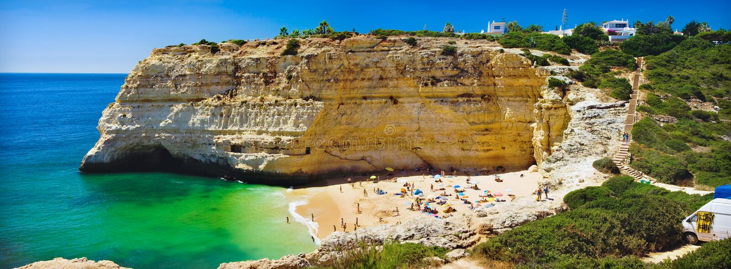 Algarve, een deel van Portugal stock afbeelding
