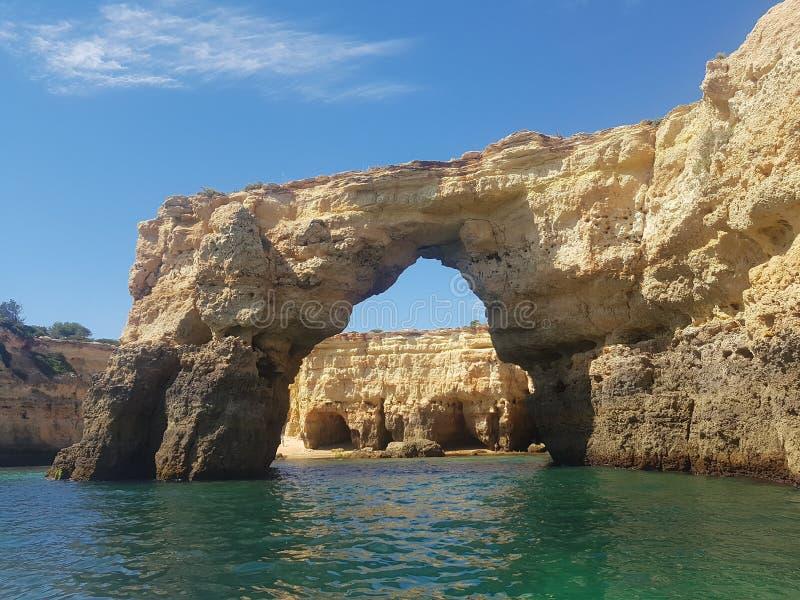 Algarve falezy 2 zdjęcia royalty free