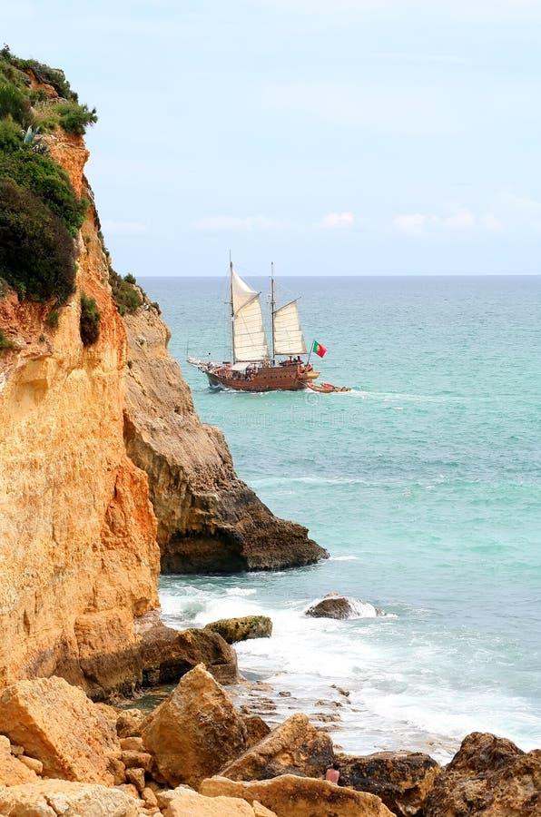 Algarve het schip van de Piraat royalty-vrije stock fotografie