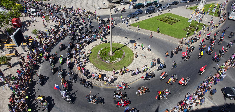 Algarve International Motorcicle Rally Editorial Stock Photo
