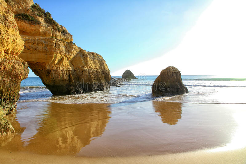 Algarve Kust en Strand stock foto