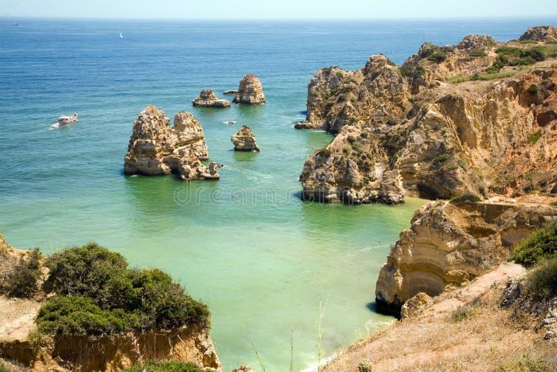 algarve kust portugal arkivbild