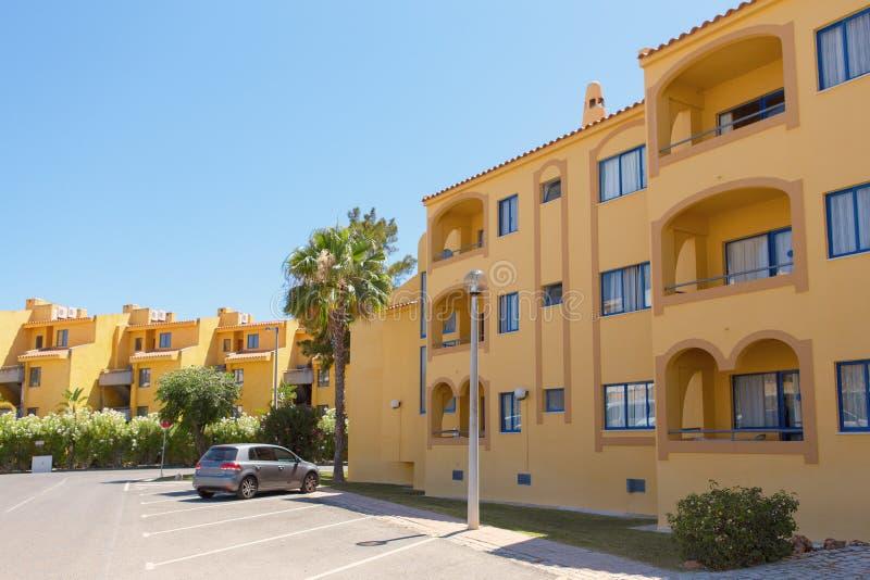 Algarve-Landhäuser stockbilder