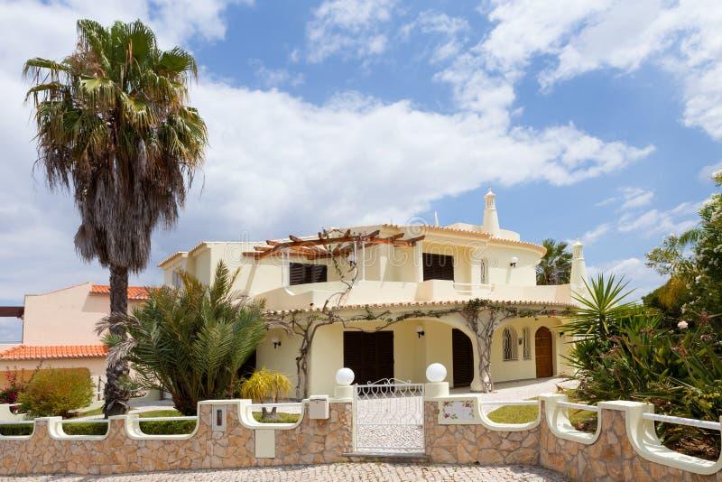 Algarve-Landhaus stockfotografie