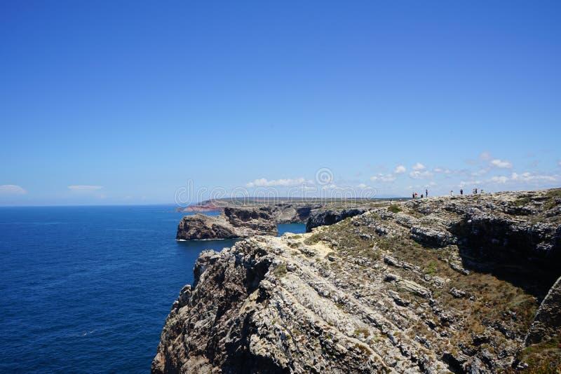 algarve plażowy bispo costa robi murra vicentina o Portugal Vila zdjęcie stock