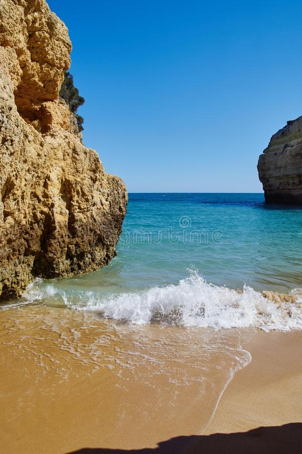 Algarve am Sao Rafael Beach stockfoto