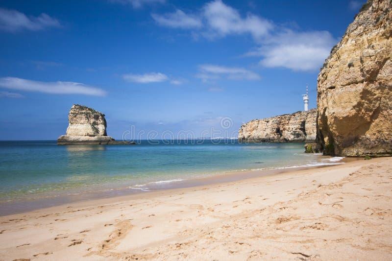 algarve strand royaltyfri foto