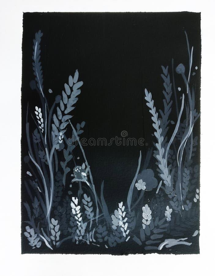 Algas do fundo preto e branco imagens de stock