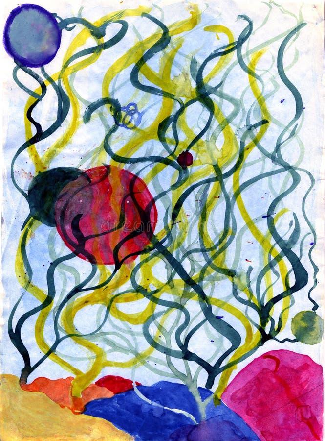 Algas subaquáticas ilustração do vetor