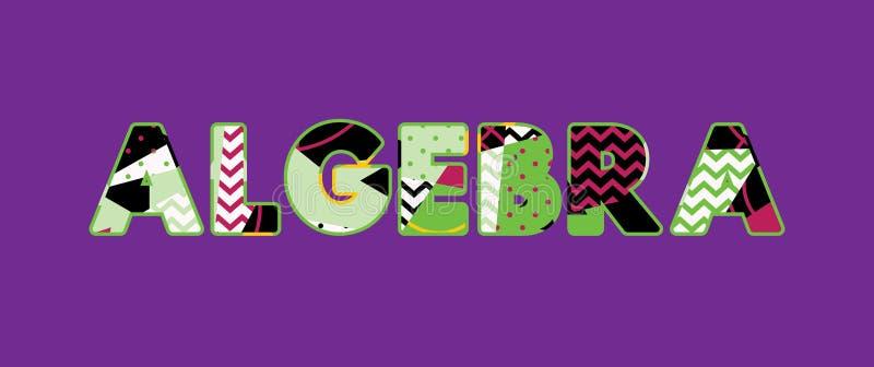Algebra Concept Word Art Illustration stock illustration