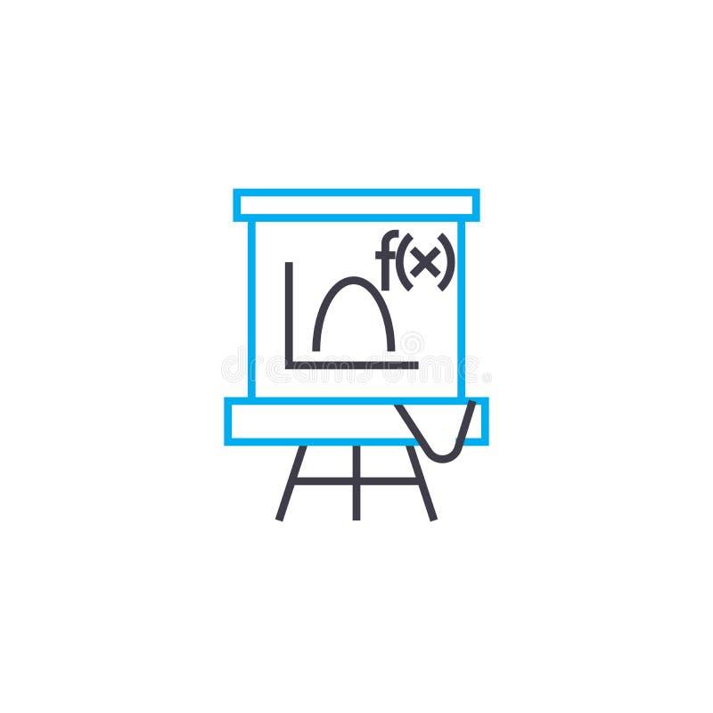Algebraic function vector thin line stroke icon. Algebraic function outline illustration, linear sign, symbol concept. Algebraic function vector thin line vector illustration