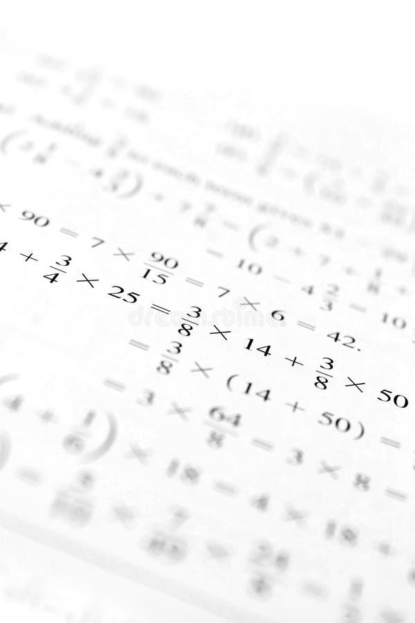 algebraproblem royaltyfri fotografi