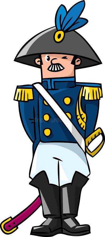 Algemeen of ambtenaar vector illustratie